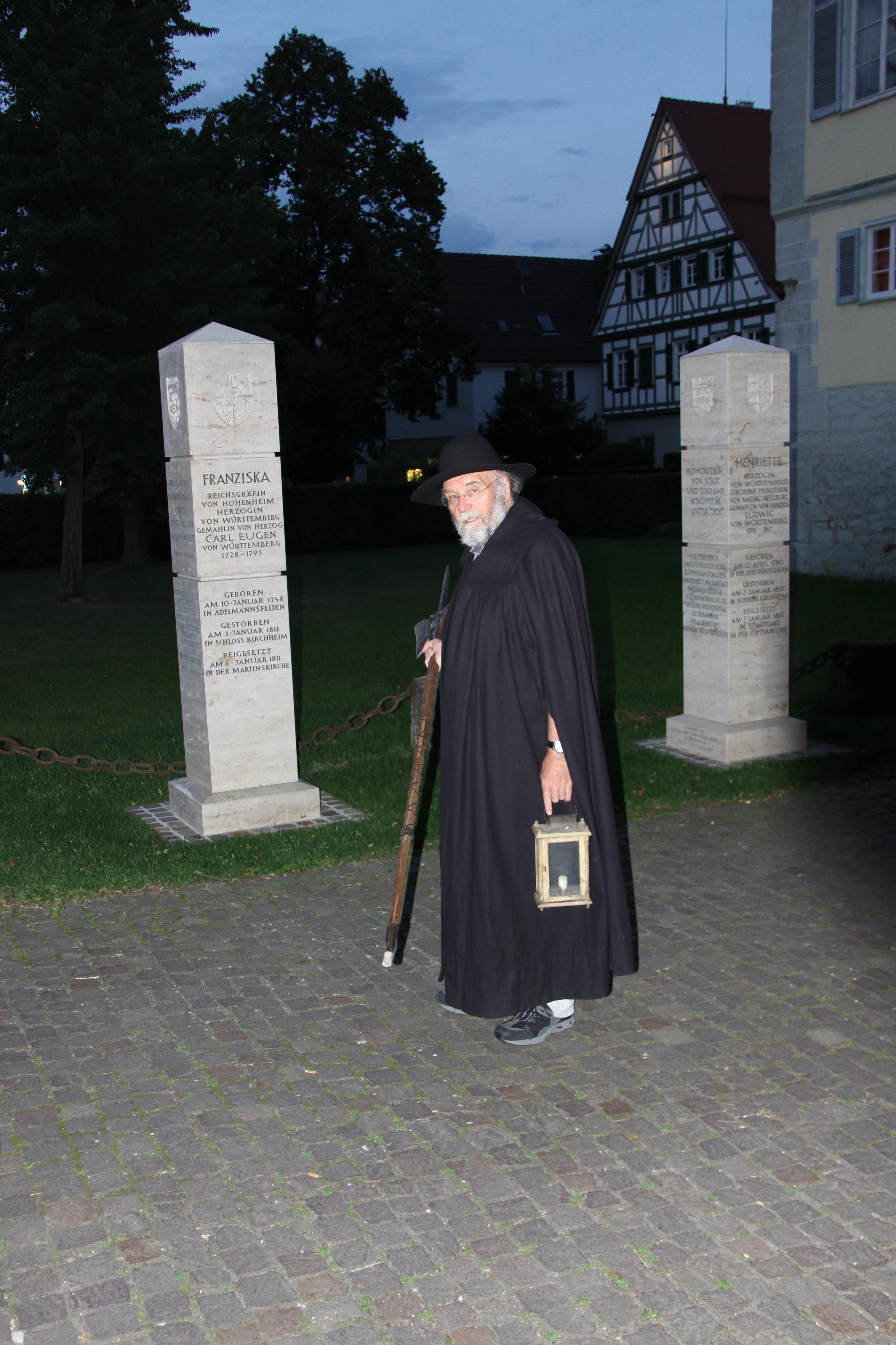 Nachtwächter Stadtführung in Kirchheim unter Teck Albtrauf